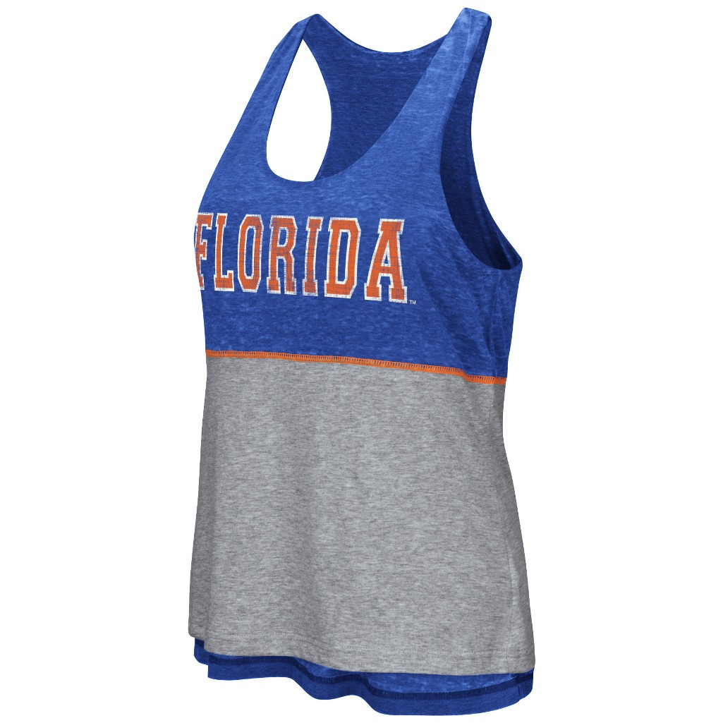 "Florida Gators Women's NCAA ""Red Ross"" Reversible Burn Out Tank Top"